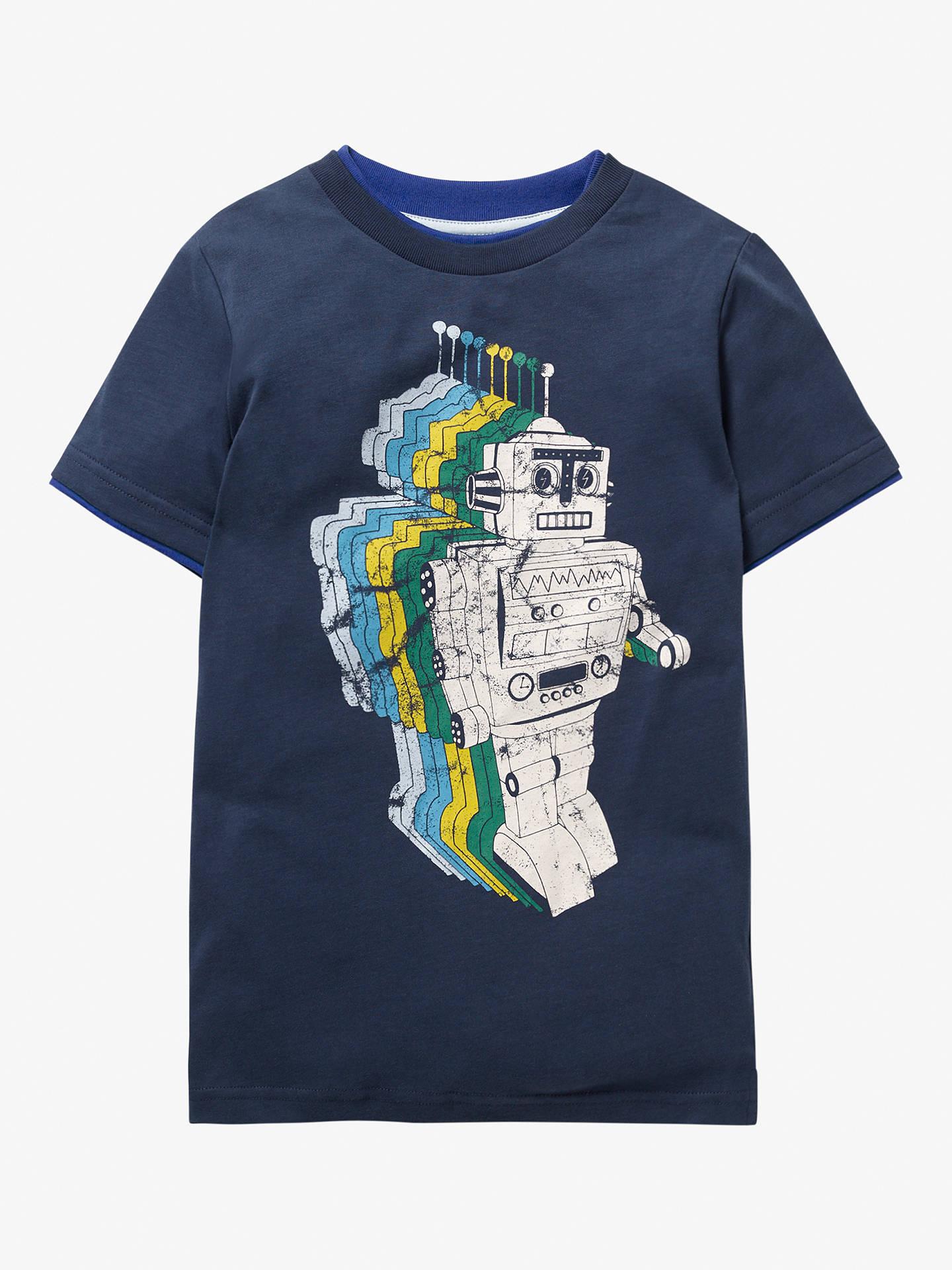 c07e72e51814 Buy Mini Boden Boys' Space Adventure Robot T-Shirt, College Blue Robot, ...