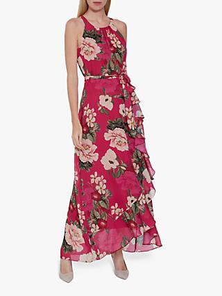 Gina Bacconi Cortana Floral Dress, Fuchsia