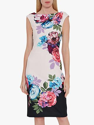 Gina Bacconi Mirna Floral Midi Dress, Blush