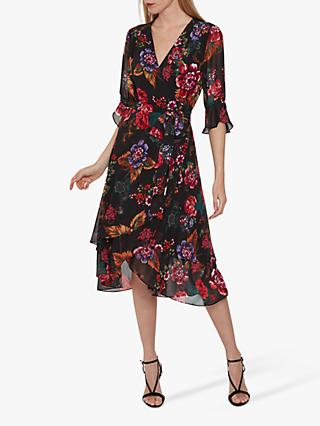 Gina Bacconi Marilene Dress, Black/Multi