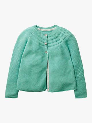 1f16895d314ed4 Mini Boden Girls' Everyday Textured Cardigan, Mineral Blue