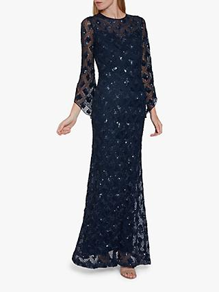 Gina Bacconi Hollis Embroidered Maxi Dress