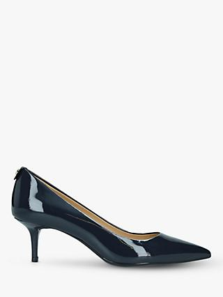 MICHAEL Michael Kors Flex Patent Kitten Pointed Court Shoes, Blue