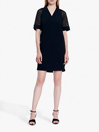 Gerard Darel Dune Lace Sleeve Dress, Black