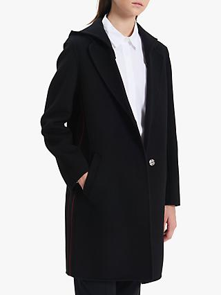 Gerard Darel Poesie Wool Coat, Black