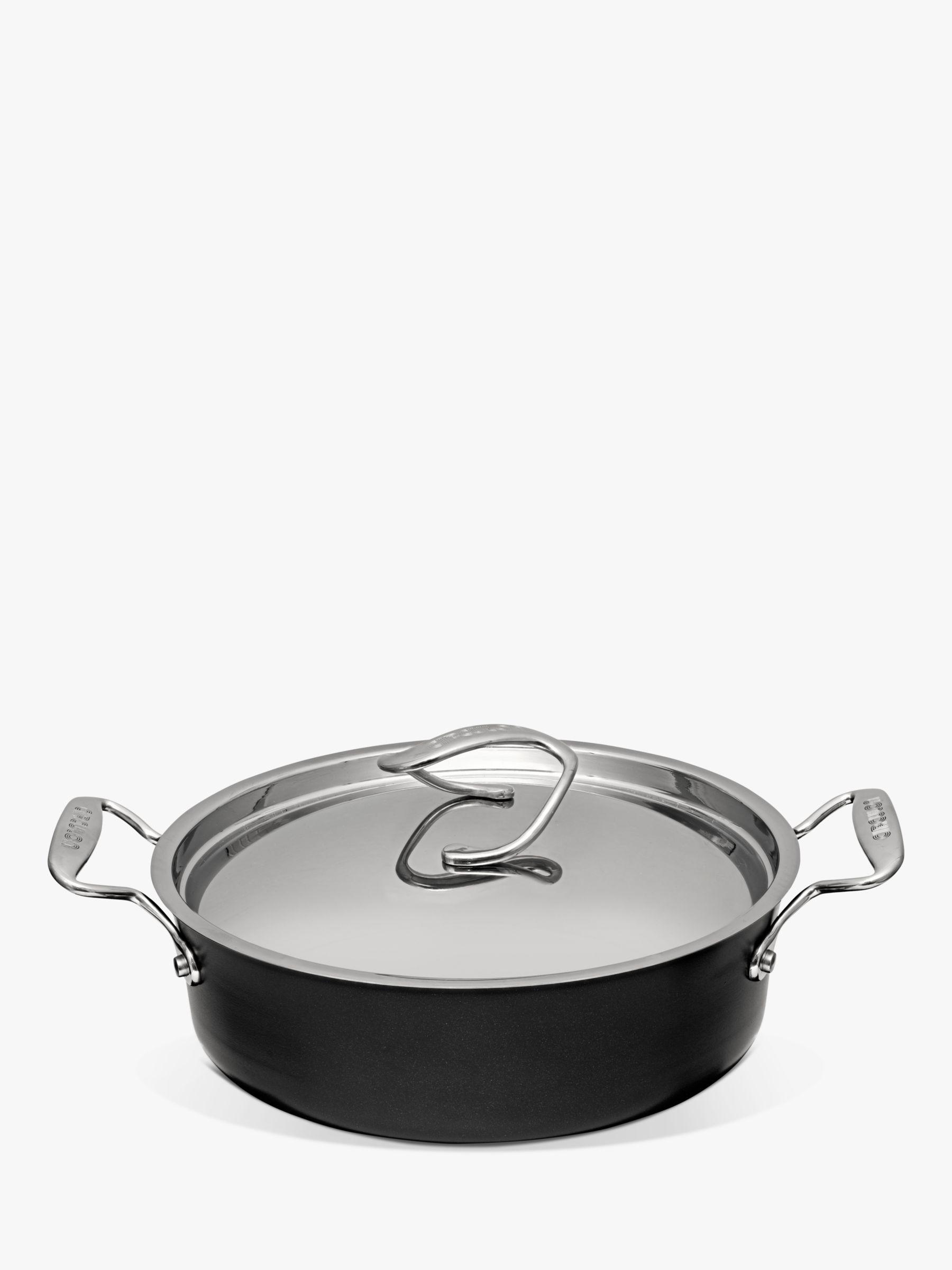 Circulon Circulon Style Hard-Anodised Aluminium Non-Stick Sauteuse Pan & Lid, Black