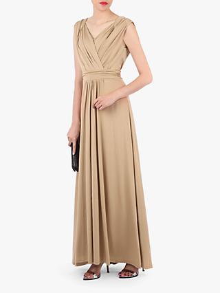 Jolie Moi Plunge Draped Dress