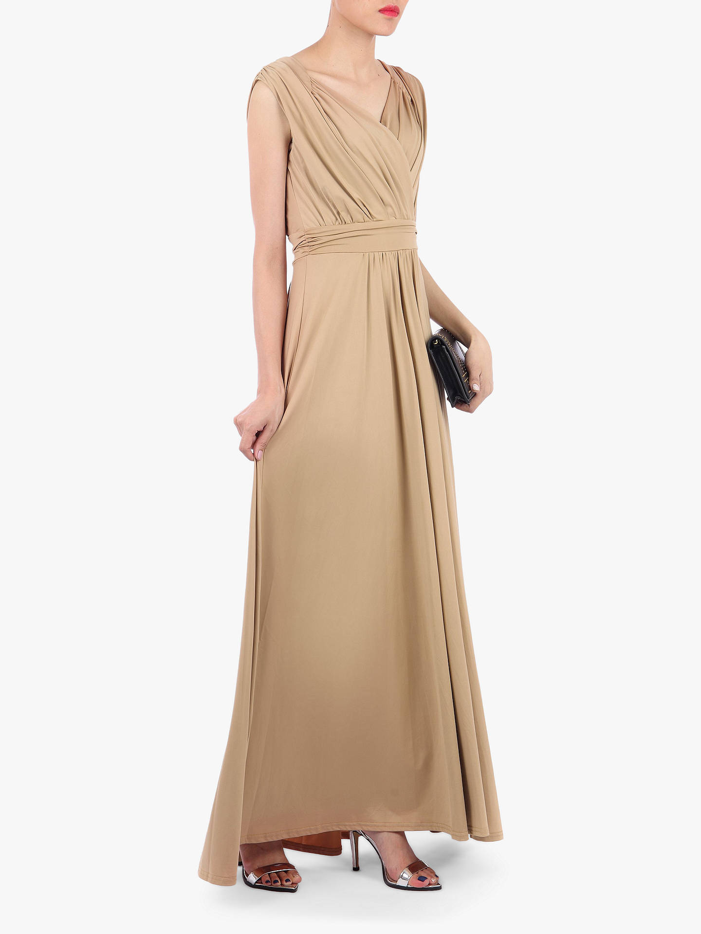 Buy Jolie Moi Plunge Draped Dress, Neutral, 10 Online at johnlewis.com