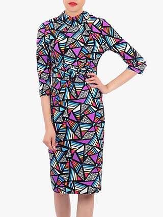 Jolie Moi Turtle Neck Shift Dress, Multi