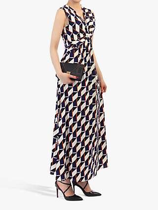 Jolie Moi Twist Front Maxi Dress, Navy/Multi