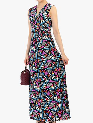Jolie Moi Twist Front Maxi Dress, Royal/Multi