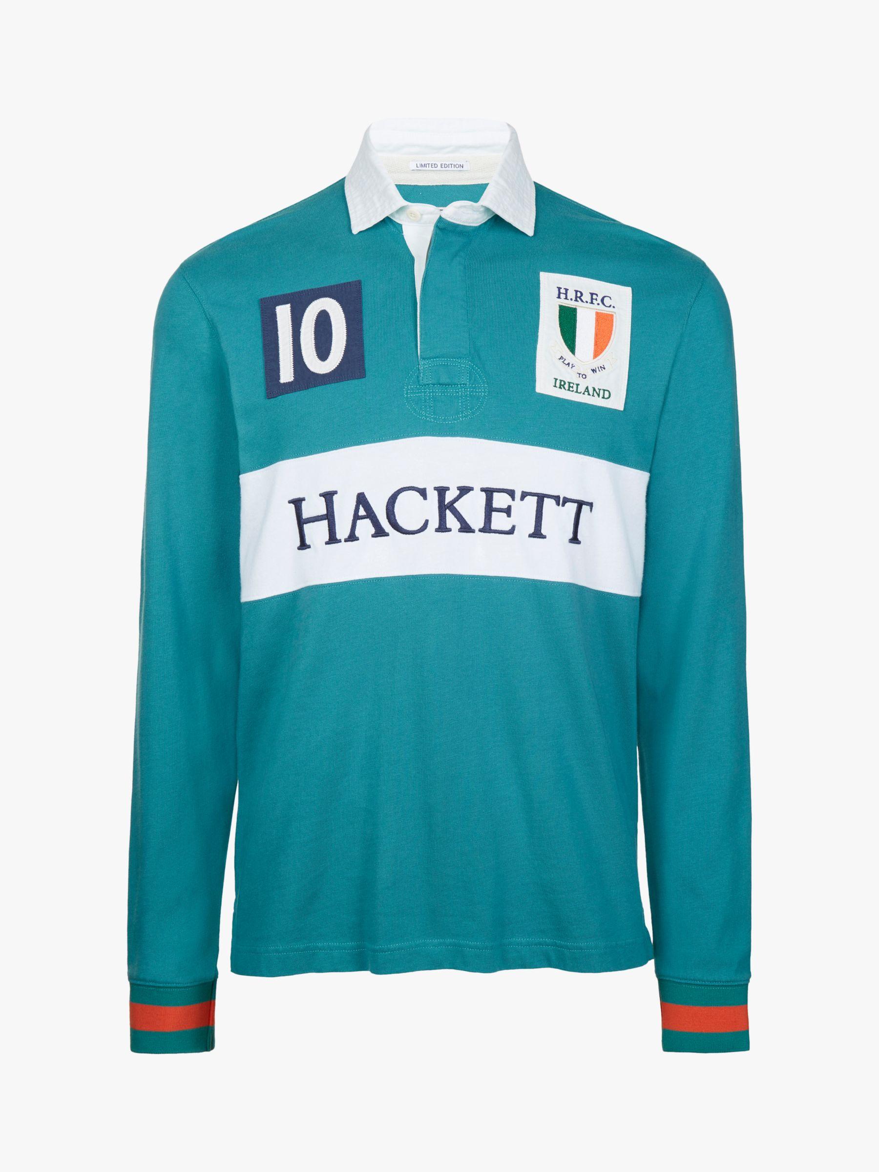 Hackett London Hackett London Ireland Cotton Rugby Shirt, Green