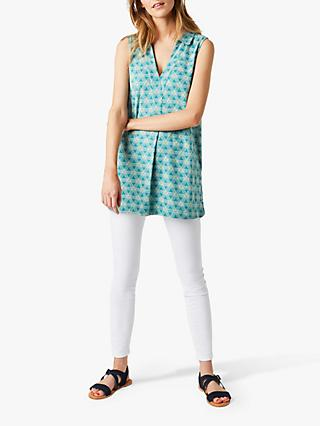 White Stuff Summer Tunic Top, Kahlo Green