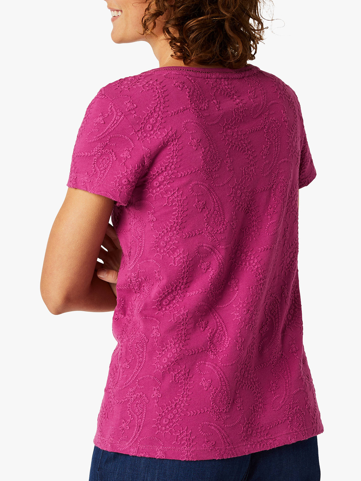 Buy White Stuff Cutwork Jersey Top, Dahlia Purple, 12 Online at johnlewis.com