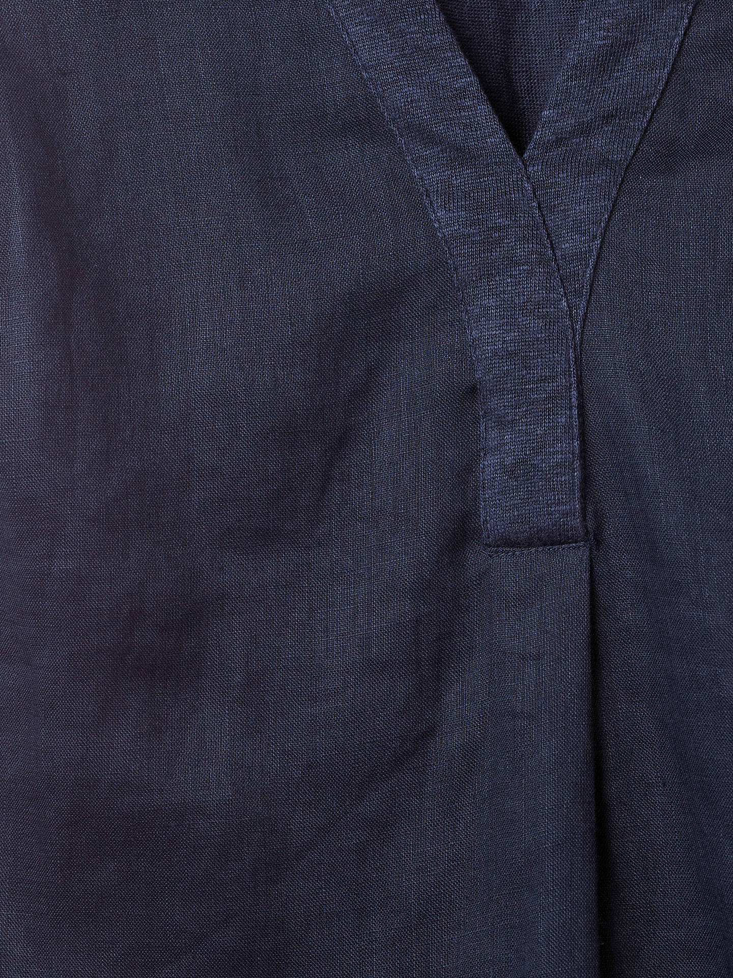 Buy White Stuff Pickle Linen Jersey Shirt, Navy, 16 Online at johnlewis.com