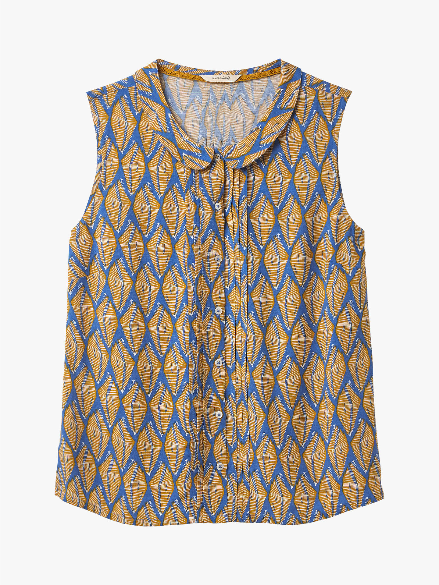 Buy White Stuff Chestnut Shirt Vest, Cornflower Blue, 12 Online at johnlewis.com