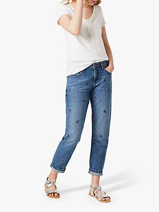 White Stuff Fiesta Leaf Jeans, Blue