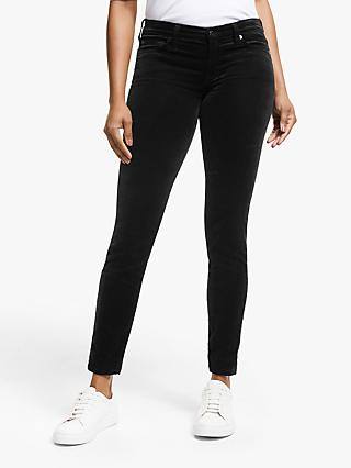 7 For All Mankind Skinny Velvet Jeans, Black