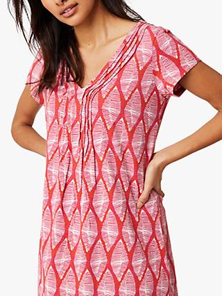 White Kalo Jersey Tunic Top, Fiesta Red