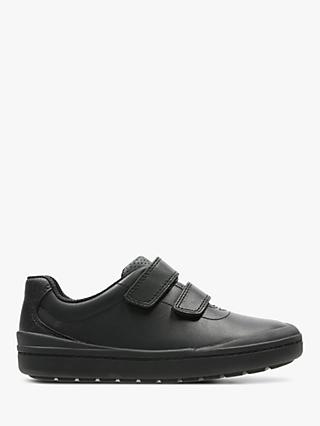 Clarks Children's Rock Play Leather Shoes, Black