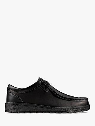 Clarks Children's Mendip Craft Leather Shoes, Black
