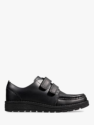 Clarks Children's Mendip Bright Leather Riptape Shoes