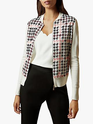 Ted Baker Arlane Zip Cardigan, White