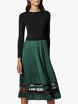 Ted Baker Scarlah Knitted Long Sleeve Dress, Black