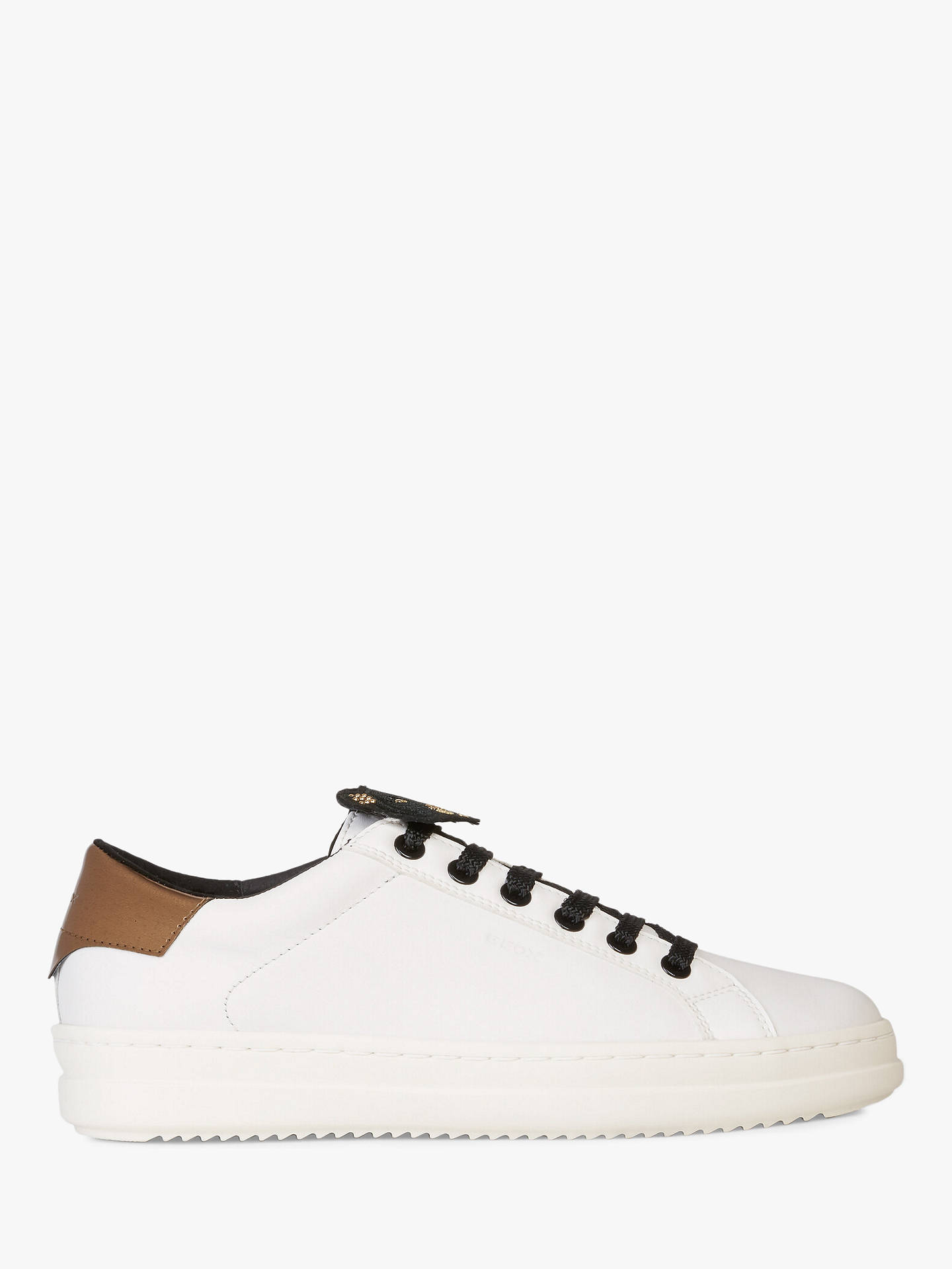 salida online mejor valor moda más deseable Geox Women's Pontoise Lace Up Trainers, White at John Lewis & Partners