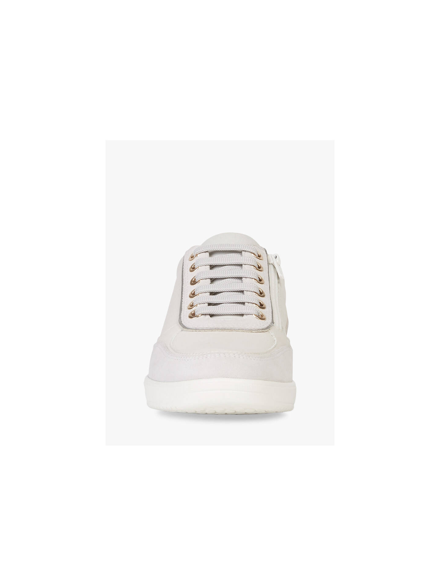 Buy Geox Women's Tahina Lace Up Trainers, White, 8 Online at johnlewis.com