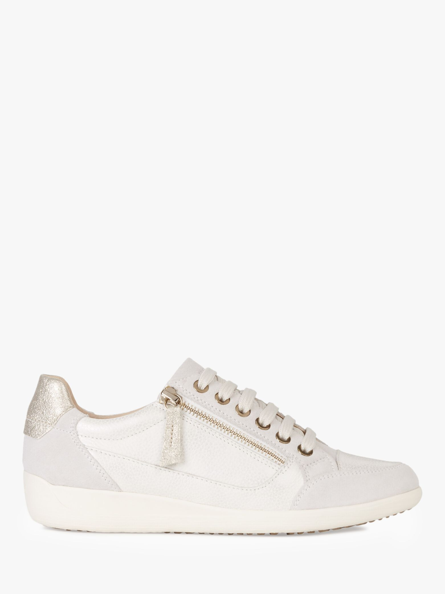 Geox Geox Women's Myria Suede Lace Up Trainers, Champagne