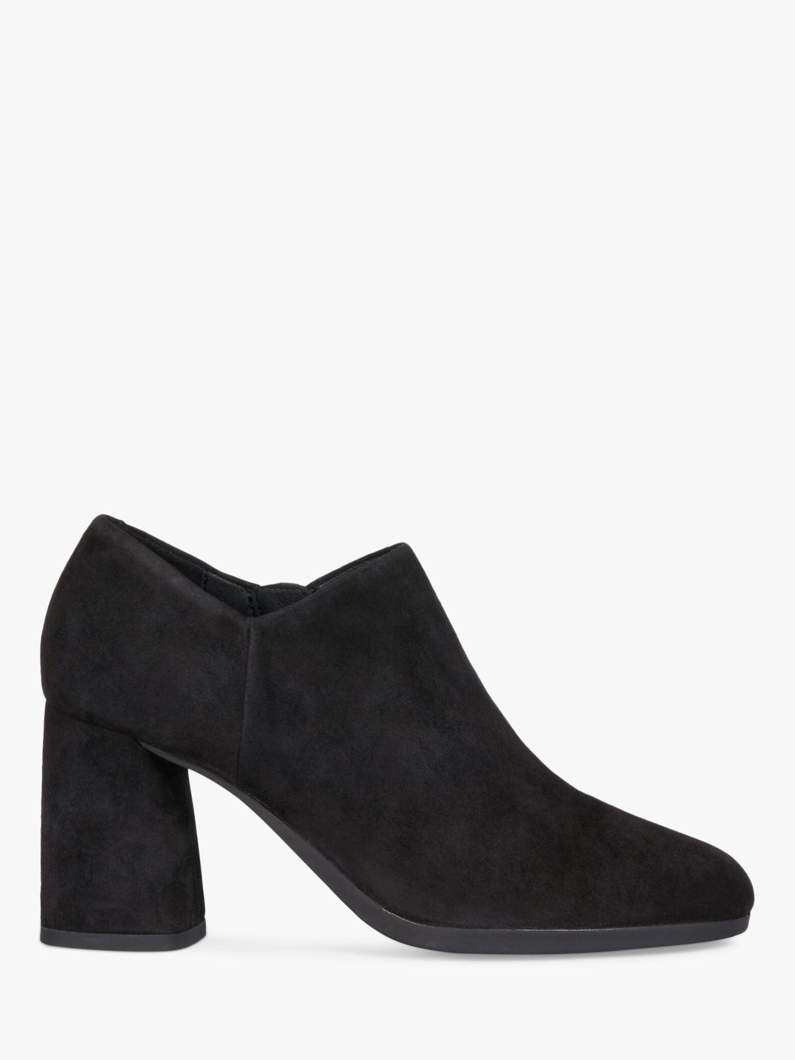 Geox Geox Women's Calinda Suede Block Heeled Shoe Boots, Black