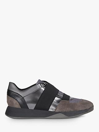Geox Women's Suzzie Slip On Trainers, Grey