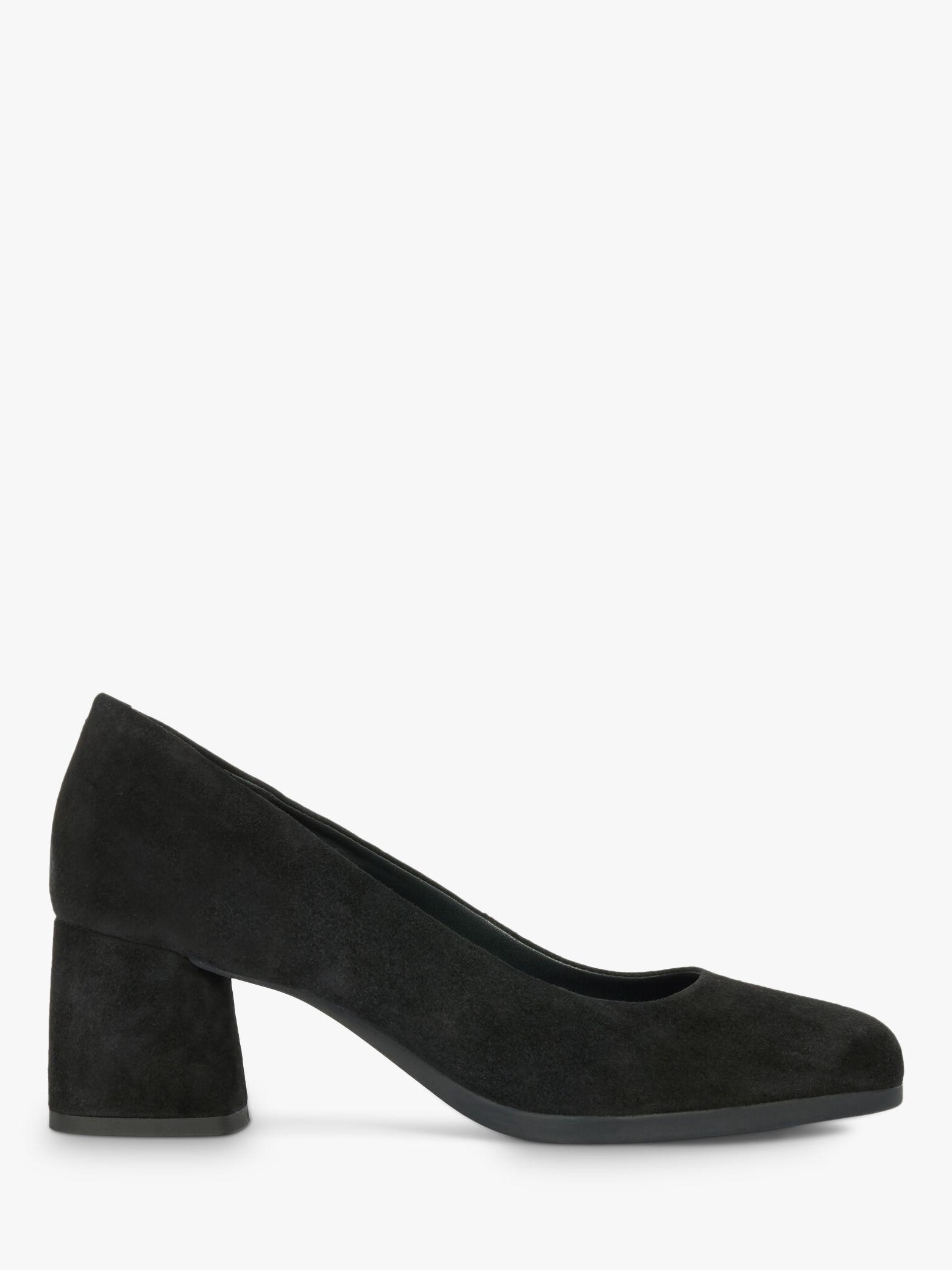 Geox Geox Women's Calinda Suede Block Heel Court Shoes, Black