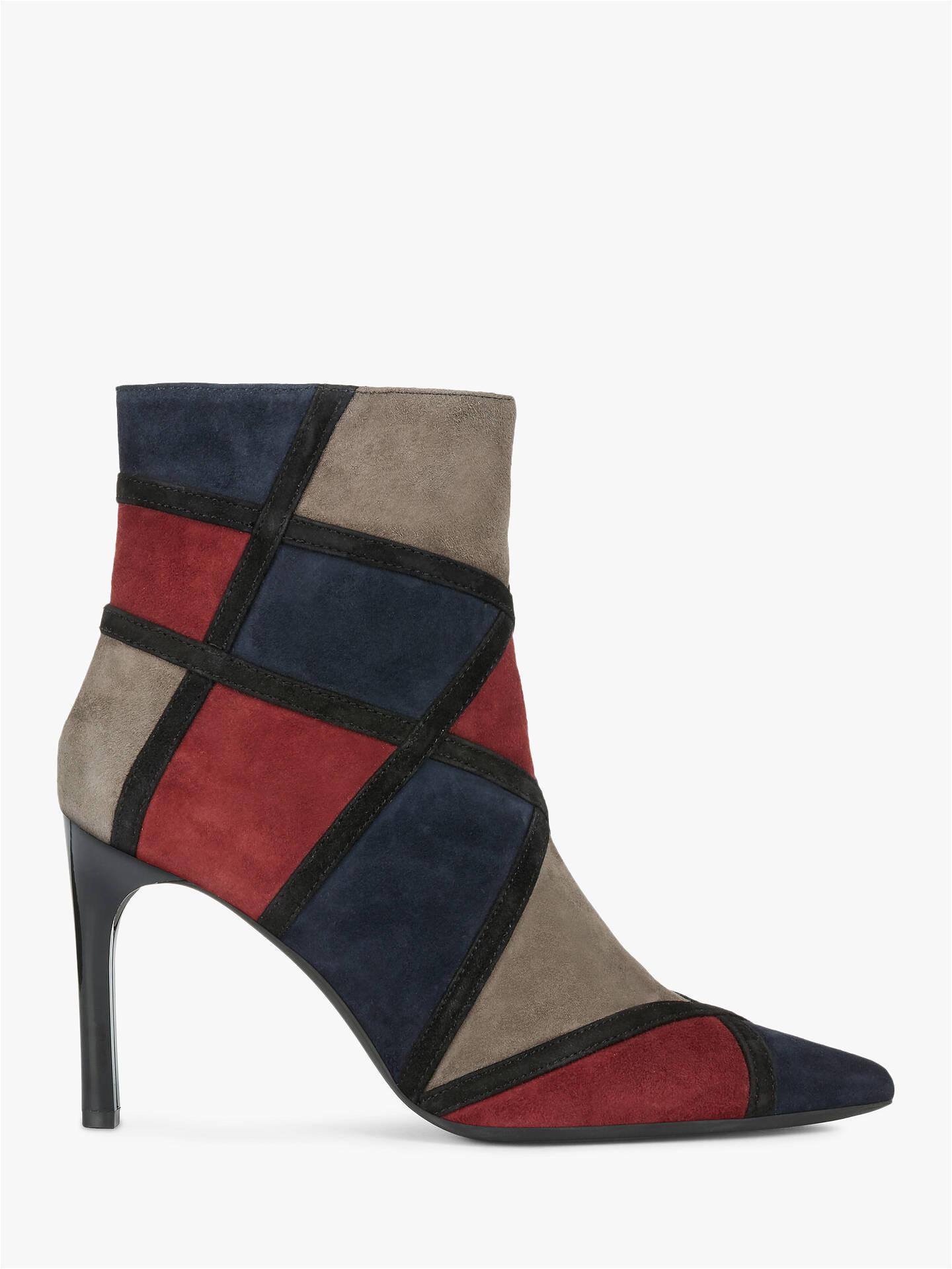 plus grand choix de classcic obtenir de nouveaux Geox Women's Faviola Suede Ankle Boots, Navy/Bordeaux