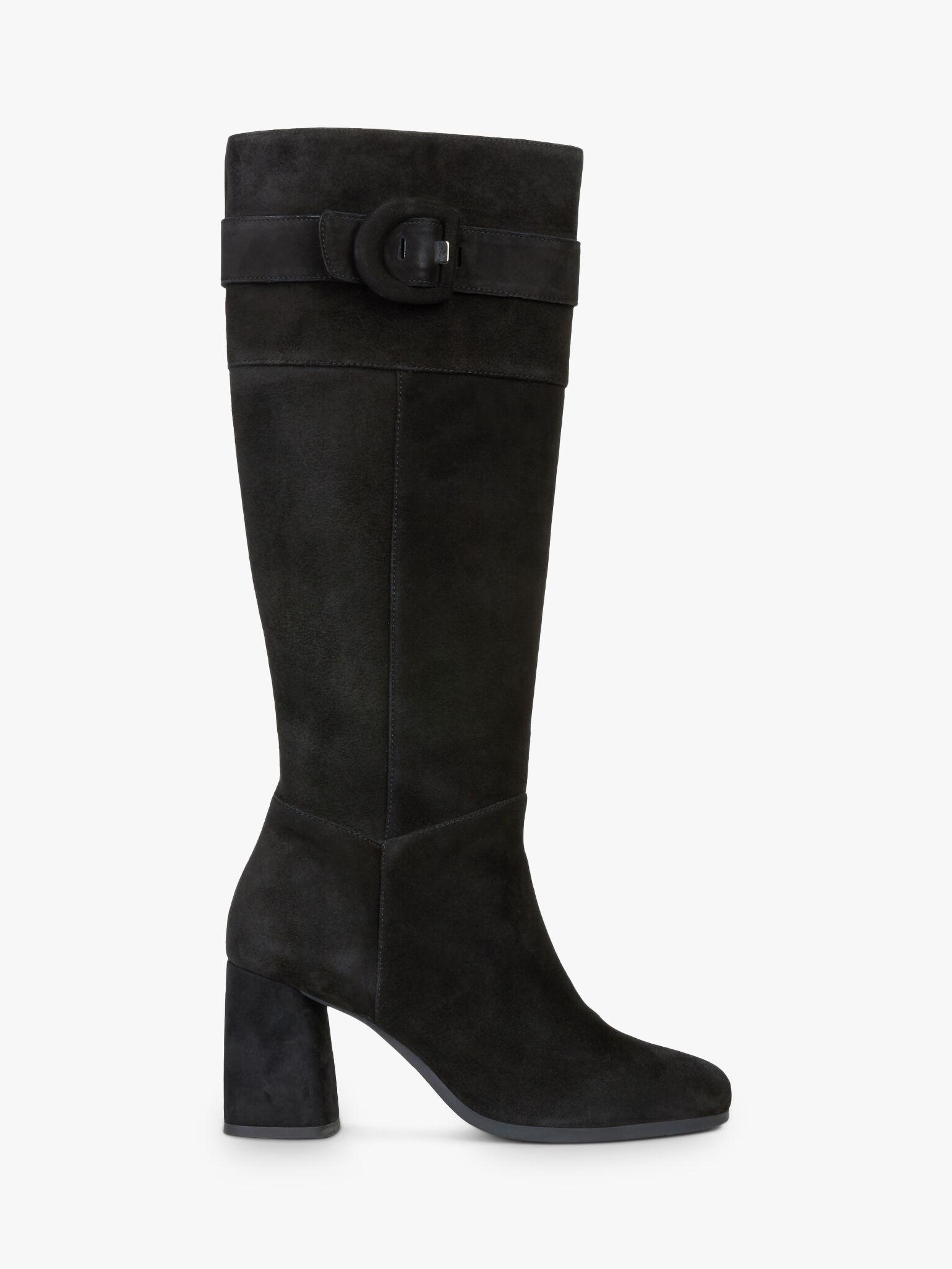 Geox Geox Women's Calinda Suede Buckle Knee Boots, Black