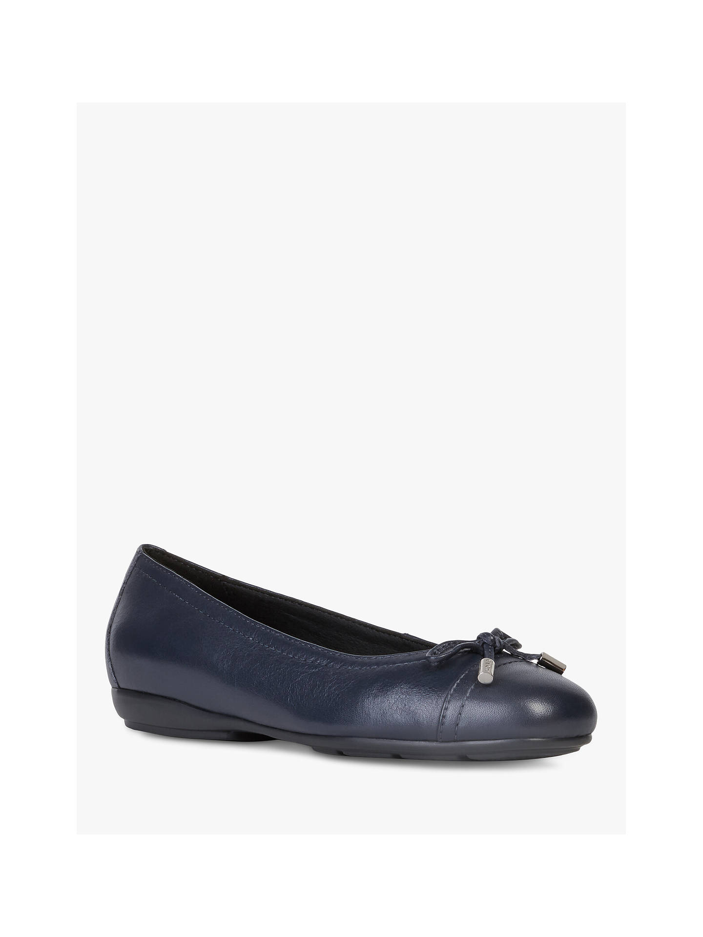 Buy Geox Women's Annytah Leather Pumps, Navy, 4 Online at johnlewis.com