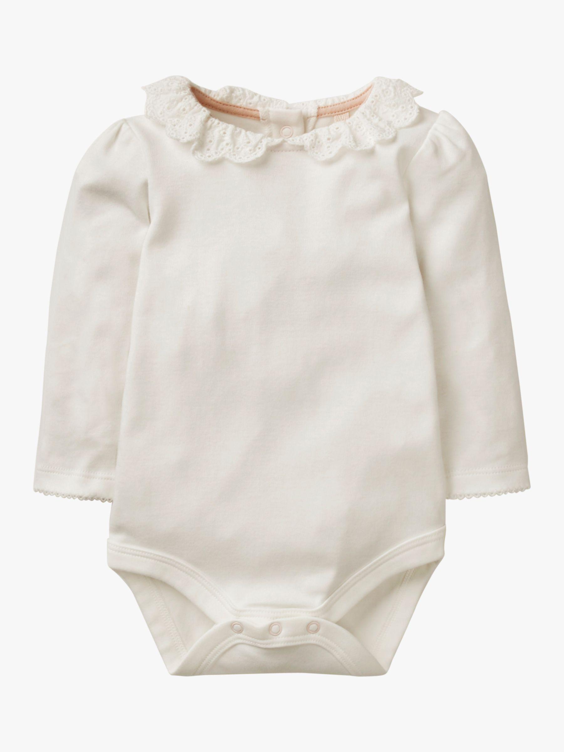 Mini Boden Mini Boden Baby Detailed Collar Bodysuit, Ivory