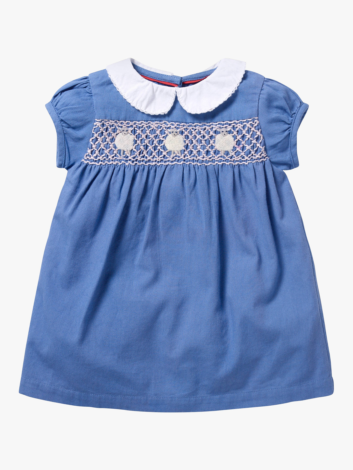 05a55140919a2 Mini Boden Baby Smock Dress, Elizabethan Blue at John Lewis & Partners