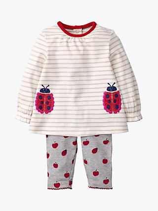 8b3e11240c571d Mini Boden Baby Appliqué Ladybug Top and Leggings Set, Ivory/Pink