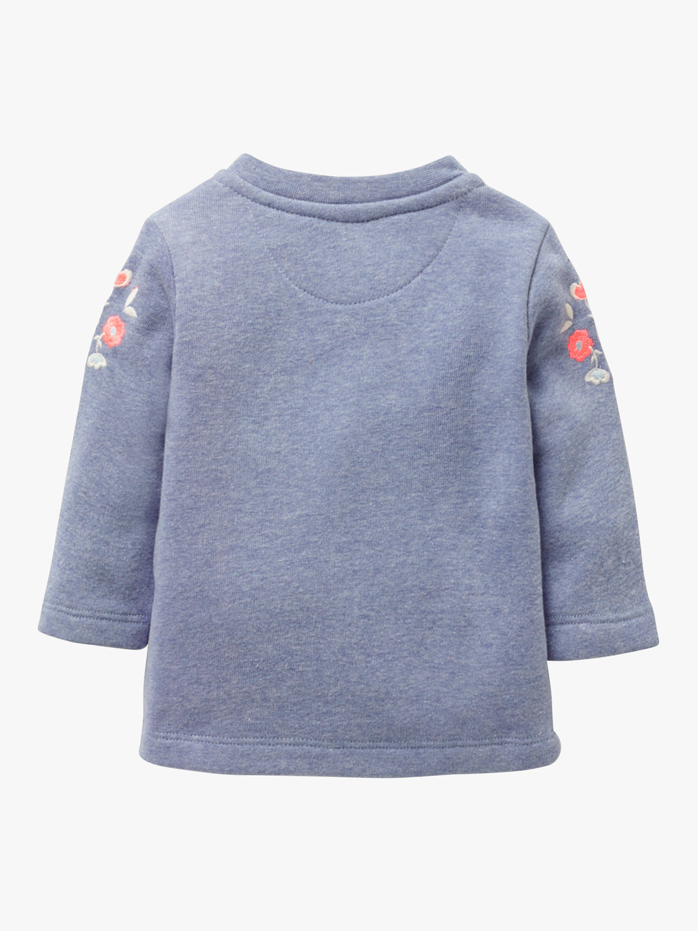 7c1d3928f0 Mini Boden Baby Floral Sweatshirt, Elizabeth Blue at John Lewis ...
