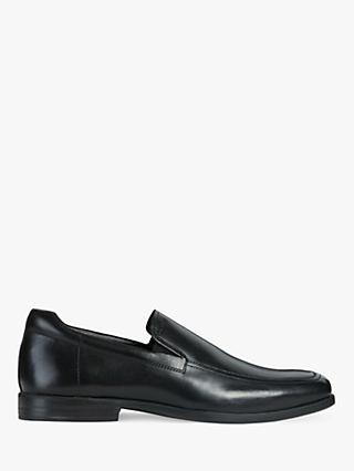 Geox Calgary Leather Loafers, Black