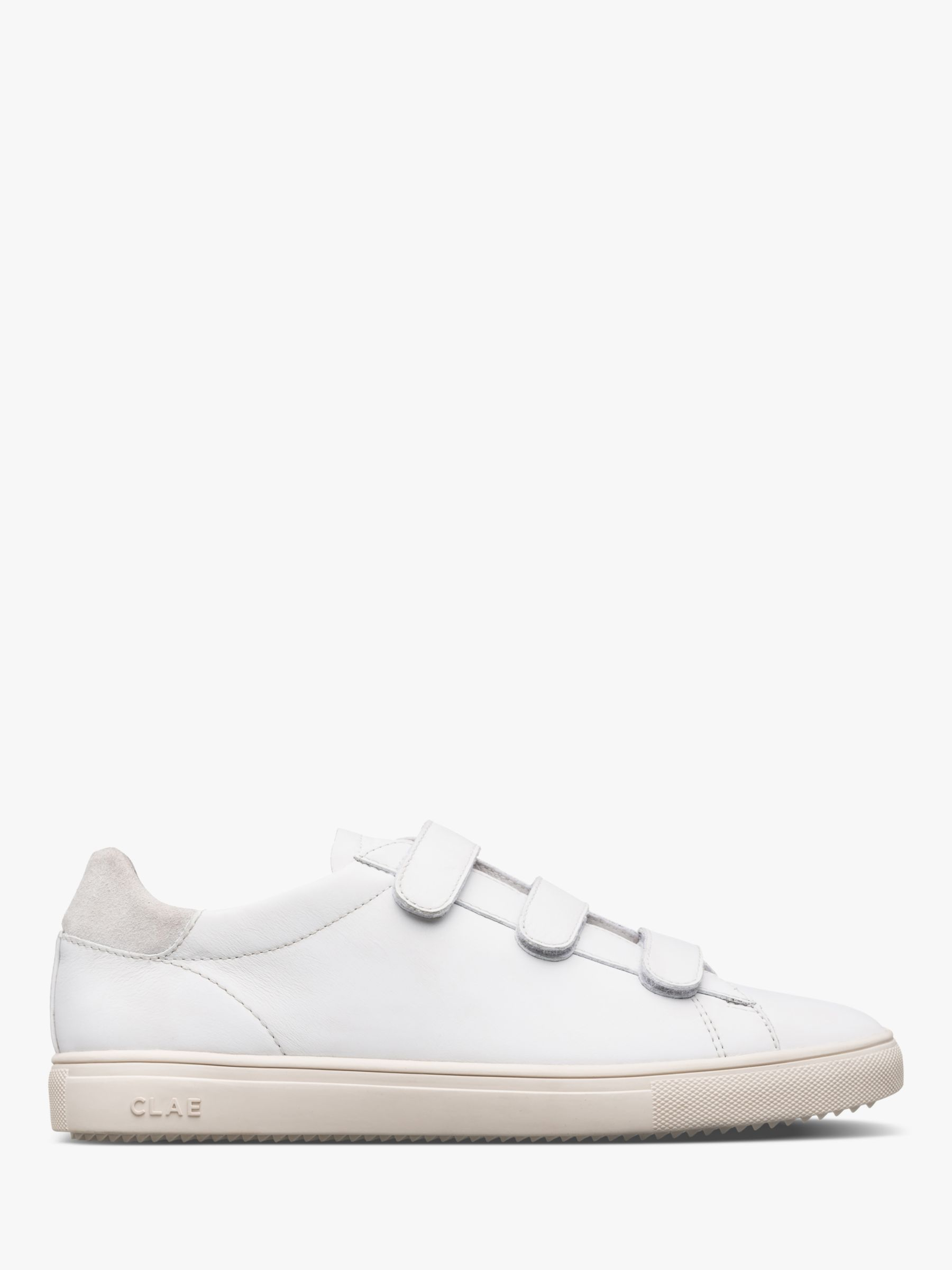 Clae CLAE Bradley Leather Trainers, White