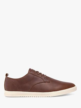 CLAE Ellington Oiled Leather Derby Shoes, Chestnut