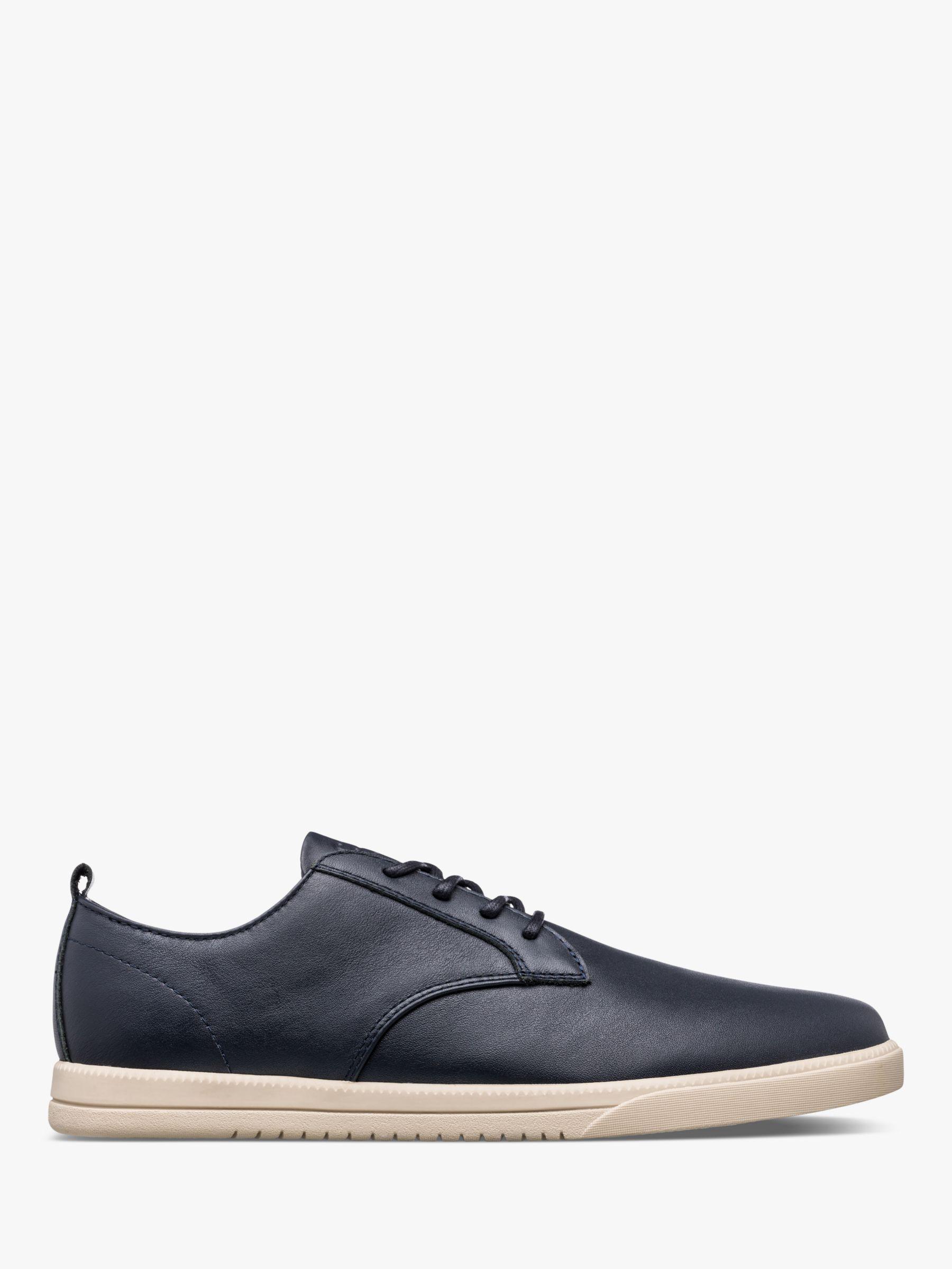 Clae CLAE Ellington Leather Derby Shoes, Navy