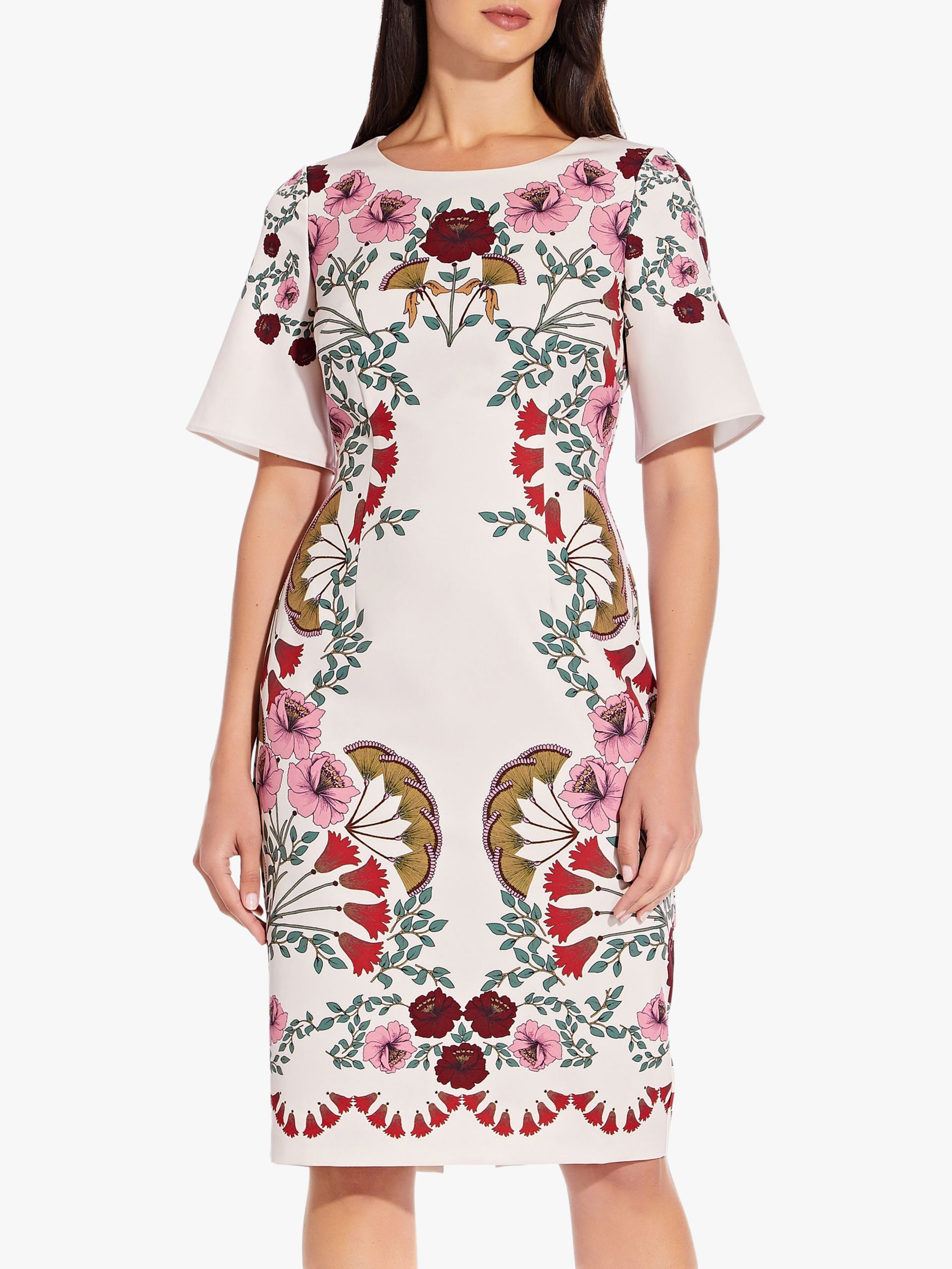 Adrianna Papell Adrianna Papell Folkloric Beauty Floral Dress, Pink