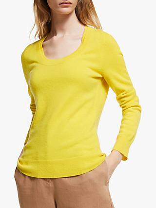 John Lewis & Partners Double Scoop Neck Cashmere Sweater
