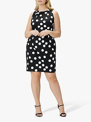 Coast Curve April Spot Cotton Dress, Mono