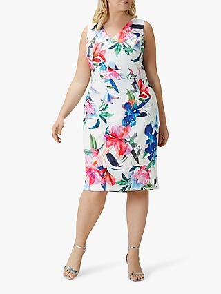 Coast Curve Natalia Floral Print Shift Dress, Multi