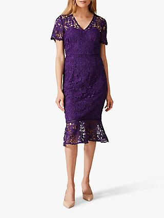 Phase Eight Daria Guipure Dress, Amethyst
